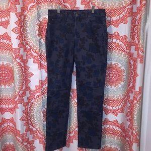 NYDJ 6 Floral Skinny Jeans